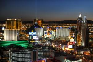 Las Vegas Strip at night 12/2/09