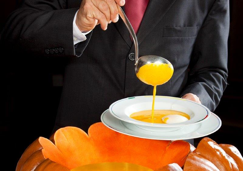Restaurant Guy Savoy pumpkin soup