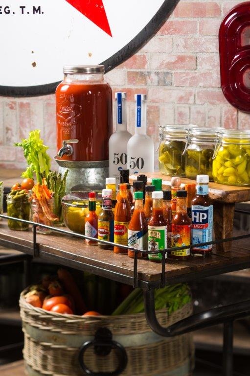 Bloody Mary Table Sidecart