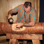 Billy the Crud live tiki carving